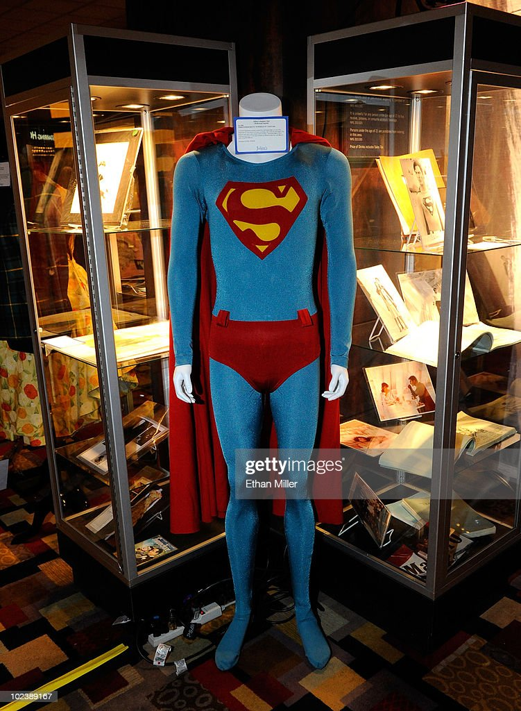 Actor Christopher Reeve's costume from the movie, 'Superman