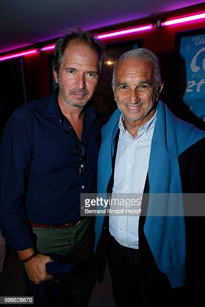 Actor Christopher Thompson and Cesar Academy President Alain Terzian attend the 'Cezanne et Moi' Premiere on September 5 2016 in Paris France
