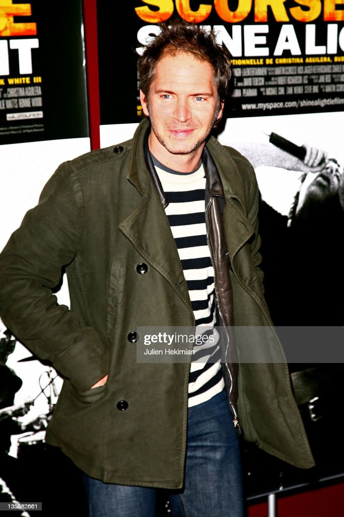 Actor Christopher Thompson arrives at the 'Shine a Light' Paris Premiere at the Olympia on April 9, 2008 in Paris, France.