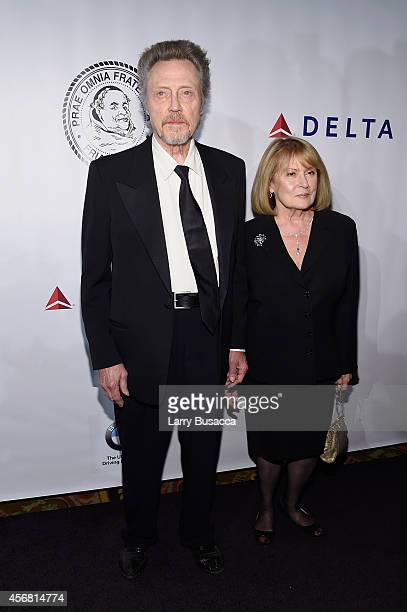 Actor Christopher Walken and Georgianne Walken attend the Friars Foundation Gala honoring Robert De Niro and Carlos Slim at The Waldorf=Astoria on...
