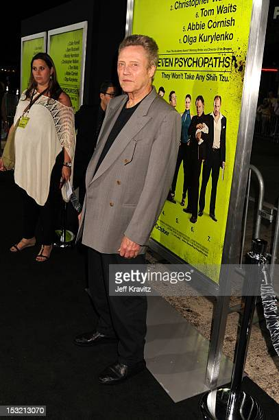 Actor Christopher Walken arrives at the Los Angeles premiere of 'Seven Psychopaths' at Mann Bruin Theatre on October 1 2012 in Westwood California