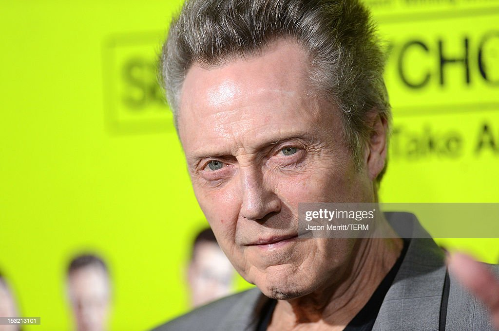 Actor <a gi-track='captionPersonalityLinkClicked' href=/galleries/search?phrase=Christopher+Walken&family=editorial&specificpeople=209174 ng-click='$event.stopPropagation()'>Christopher Walken</a> arrives at the premiere of CBS Films' 'Seven Psychopaths' at Mann Bruin Theatre on October 1, 2012 in Westwood, California.