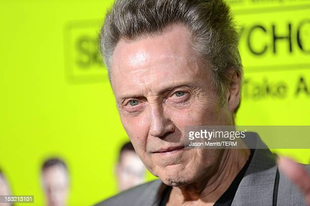 Actor Christopher Walken arrives at the premiere of CBS Films' 'Seven Psychopaths' at Mann Bruin Theatre on October 1 2012 in Westwood California