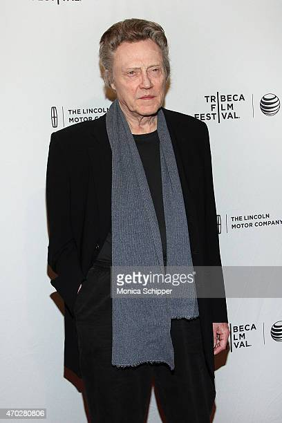 Actor Christopher Walken attends 2015 Tribeca Film Festival World Premiere Narrative 'When I Live My Life Over Again' at SVA Theater 1 on April 18...
