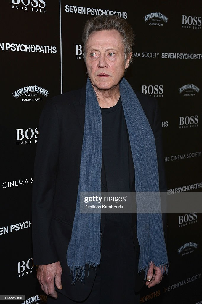 Actor Christopher Walken attends The Cinema Society with Hugo Boss and Appleton Estate screening of 'Seven Psychopaths' at Clearview Chelsea Cinemas on October 10, 2012 in New York City.