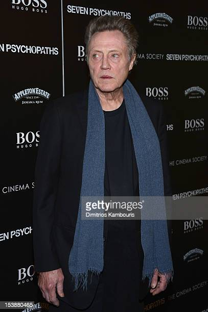 Actor Christopher Walken attends The Cinema Society with Hugo Boss and Appleton Estate screening of 'Seven Psychopaths' at Clearview Chelsea Cinemas...