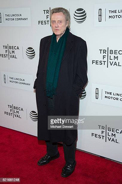 Actor Christopher Walken attends 'The Family Fang' premiere during 2016 Tribeca Film Festival at John Zuccotti Theater at BMCC Tribeca Performing...