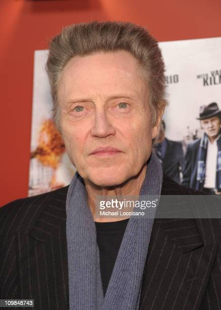 Actor Christopher Walken attends the premiere of 'Kill the Irishman' at Landmark's Sunshine Cinema on March 7 2011 in New York City