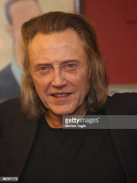 Actor Christopher Walken attends the unveiling of his caricature at Sardi's on April 6 2010 in New York City