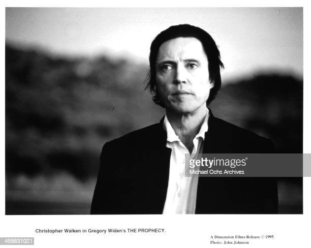 Actor Christopher Walken on set of the movie 'The Prophecy' circa 1995