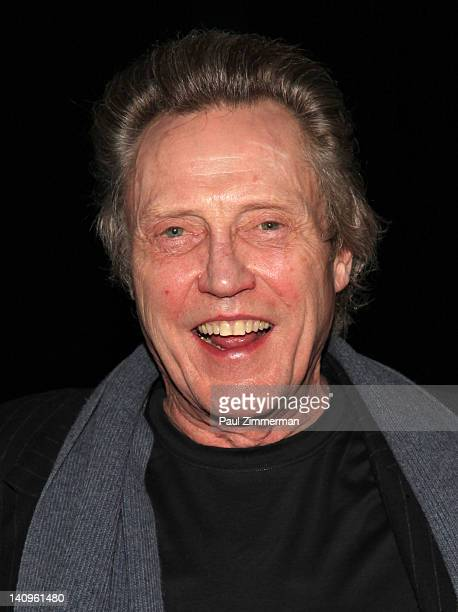 Actor Christopher Walken visits 'Innocent Flesh' at Actors Temple Theatre on March 8 2012 in New York City