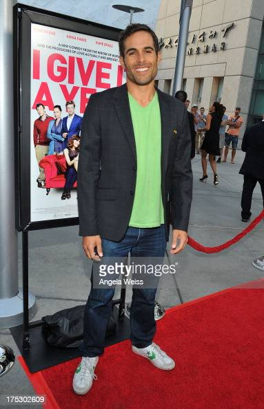 Actor Christopher Wolfe arrives at the Screening of Magnolia Pictures' 'I Give It A Year' at ArcLight Hollywood on August 1 2013 in Hollywood...