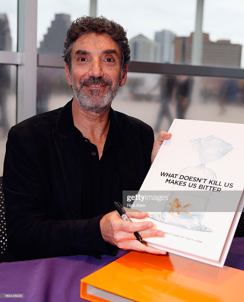 Actor <a gi-track='captionPersonalityLinkClicked' href=/galleries/search?phrase=Chuck+Lorre&family=editorial&specificpeople=2307242 ng-click='$event.stopPropagation()'>Chuck Lorre</a> Book Signing during the 2013 SXSW Music, Film + Interactive Festival at Long Center on March 9, 2013 in Austin, Texas.