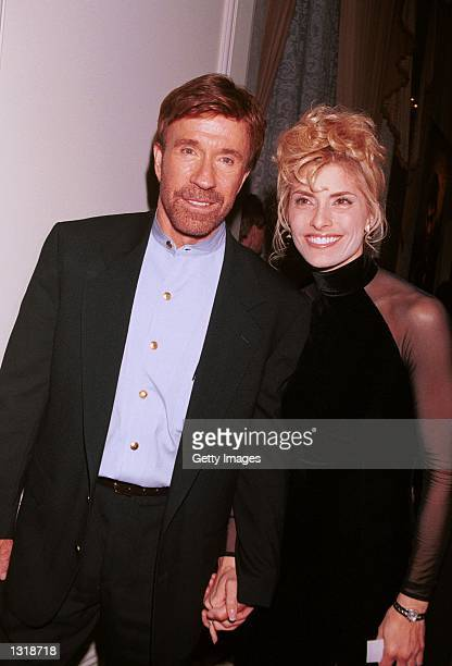 Actor Chuck Norris accompanies his wife actress/model Gena O''Kelley at the 6th Annual American Veteran Awards honoring Norris with the Veteran of...