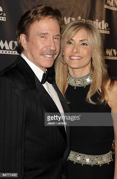 Actor Chuck Norris and his wife Gena Norris attend the 17th annual Movieguide faith and values award gala at the Beverly Hilton Hotel on february 11...