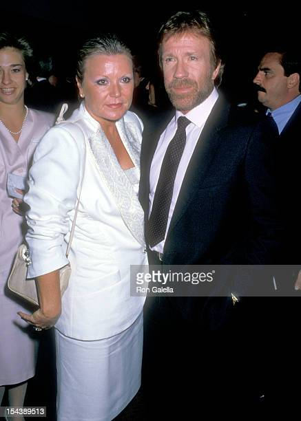 Actor Chuck Norris and wife Diane Holechek attend the Republican Fundraiser for Presidential Nominee George Bush and his VicePresident Running Mate...