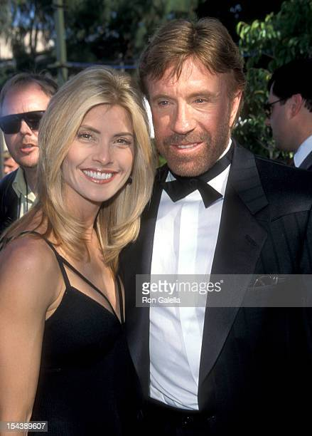 Actor Chuck Norris and wife Gena O'Kelley attend the 34th Annual Academy of Country Music Awards on May 5 1999 at Universal Amphitheatre in Universal...