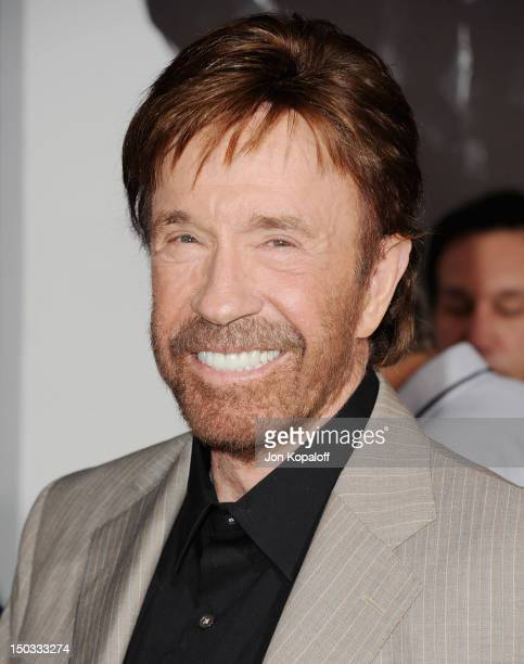 Actor Chuck Norris arrives at the Los Angeles Premiere 'The Expendables 2' at Grauman's Chinese Theatre on August 15 2012 in Hollywood California