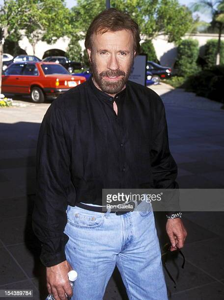 Actor Chuck Norris attends the CBS Winter TCA Press Tour on January 13 1996 at RitzCarlton Hotel in Pasadena California