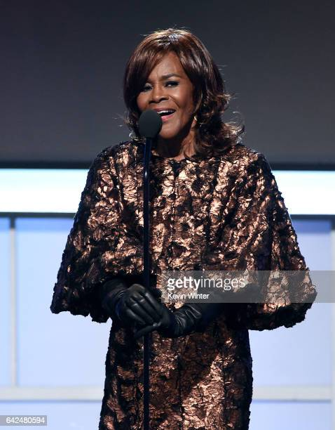 Actor Cicely Tyson speaks onstage during BET Presents the American Black Film Festival Honors on February 17 2017 in Beverly Hills California