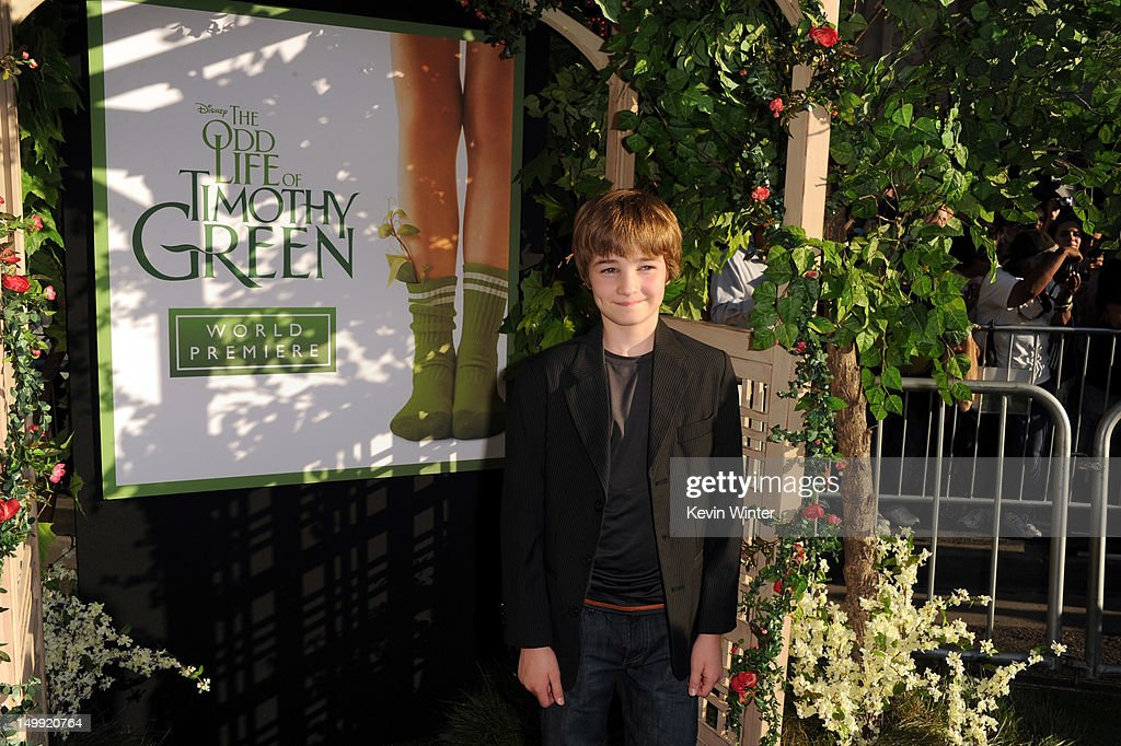 Actor CJ Adams arrives at the premiere of Walt Disney Pictures' 'The Odd Life of Timothy Green' at the El Capitan Theatre on August 6, 2012 in Hollywood, California.