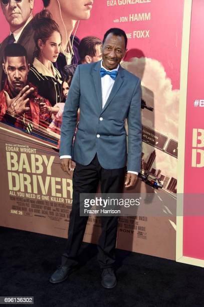 Actor CJ Jones arrives at the Premiere of Sony Pictures' 'Baby Driver' at Ace Hotel on June 14 2017 in Los Angeles California