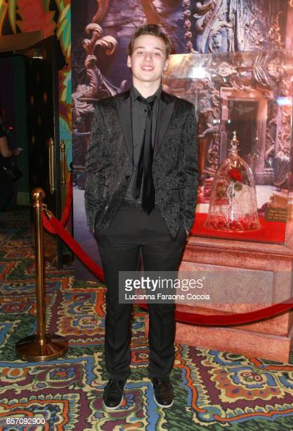 Actor CJ Valleroy attends Red Walk special screening of Disney's 'Beauty And The Beast' at El Capitan Theatre on March 23 2017 in Los Angeles...