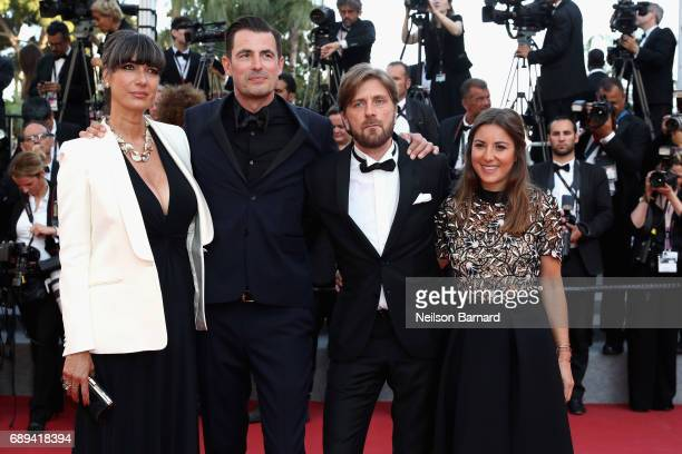 Actor Claes Bang director Ruben Ostlund and guests attend the Closing Ceremony during the 70th annual Cannes Film Festival at Palais des Festivals on...