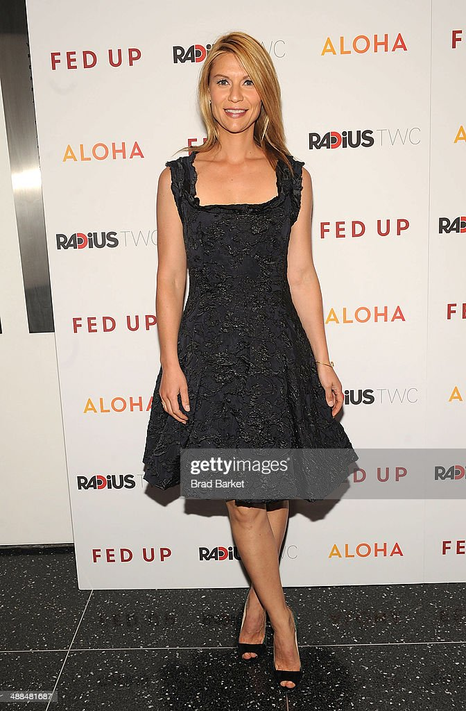 Actor Claire Danes attends 'Fed Up' premiere at Museum of Modern Art on May 6, 2014 in New York City.