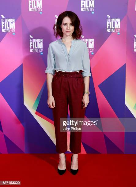 Actor Claire Foy attends a photocall for 'Breathe' during the 61st BFI London Film Festival on October 4 2017 in London England
