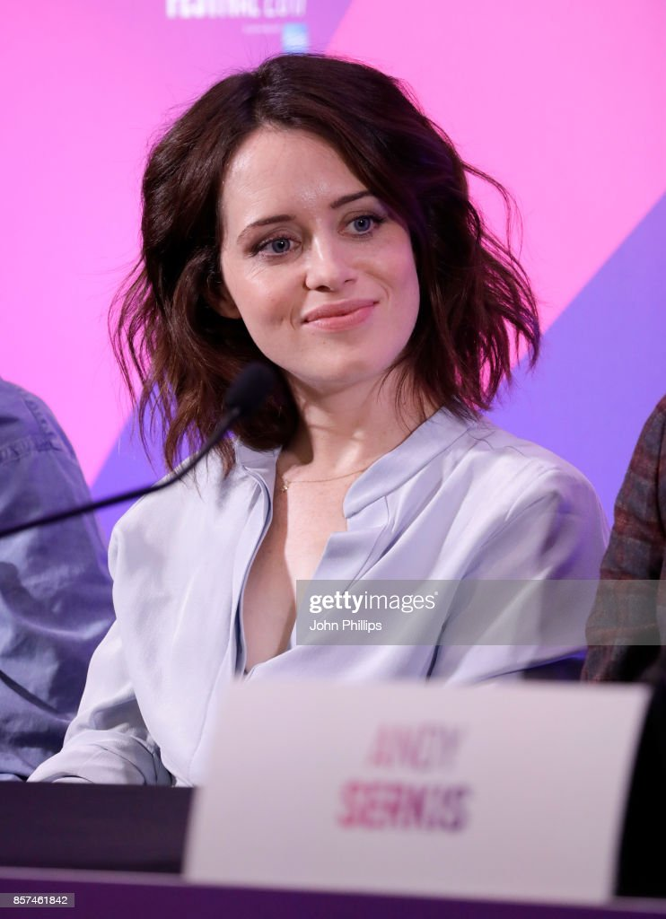 Actor Claire Foy attends the press conference for 'Breathe' during the 61st BFI London Film Festival on October 4, 2017 in London, England.