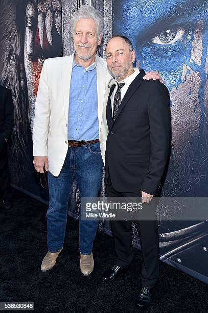 Actor Clancy Brown and producer Alex Gartner attend the premiere of Universal Pictures' 'Warcraft' at TCL Chinese Theatre IMAX on June 6 2016 in...