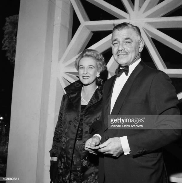 LOS ANGELES APRIL 111957 Actor Clark Gable and wife Kay Spreckels iin Los Angeles California