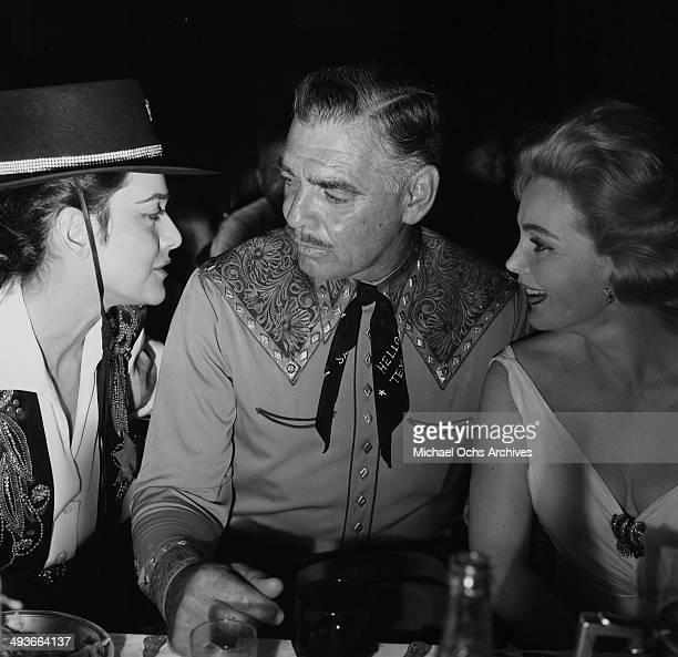 LOS ANGELES CIRCA 1957 Actor Clark Gable and wife Kay Spreckels in Los Angeles California