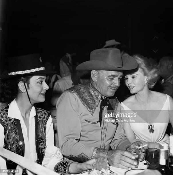LOS ANGELES CIRCA1957 Actor Clark Gable and wife Kay Spreckels in Los Angeles California