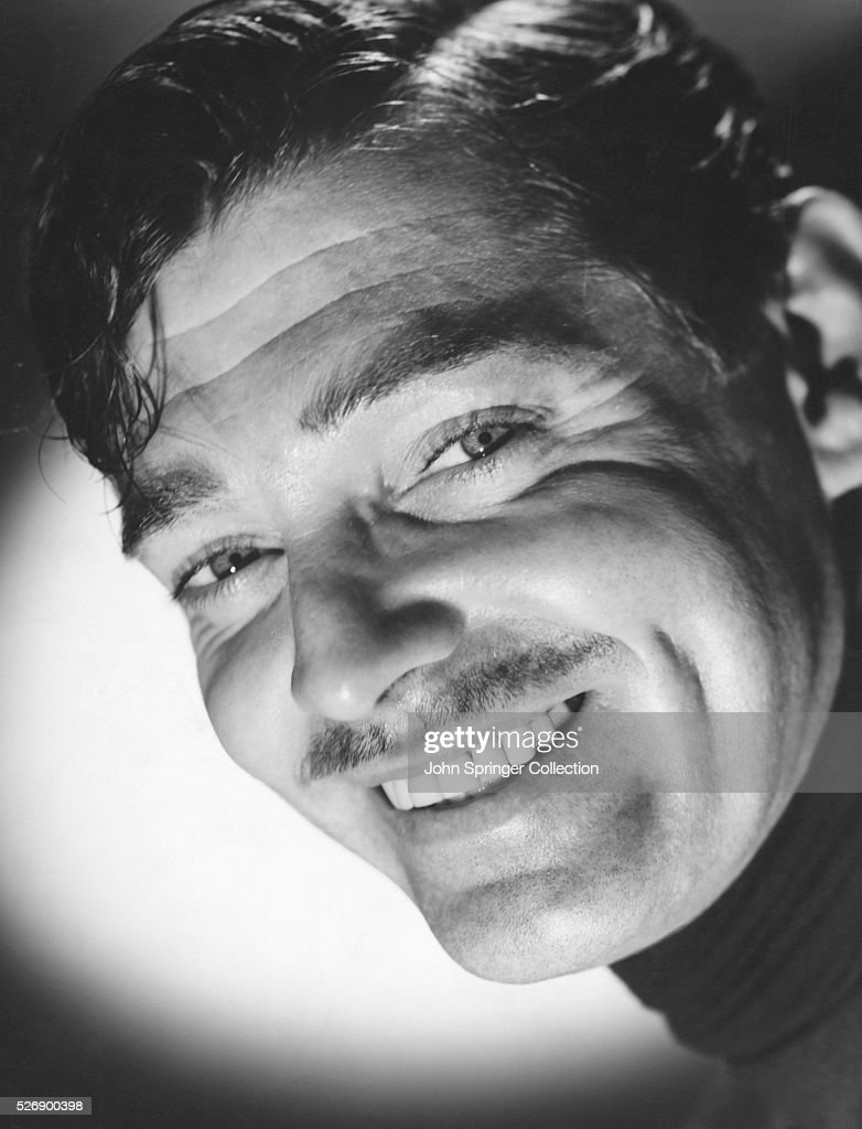 Actor Clark Gable Smiling