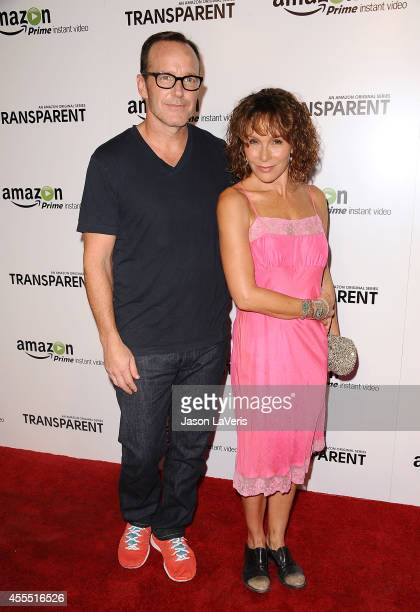 Actor Clark Gregg and actress Jennifer Grey attend the premiere of 'Transparent' at Ace Hotel on September 15 2014 in Los Angeles California