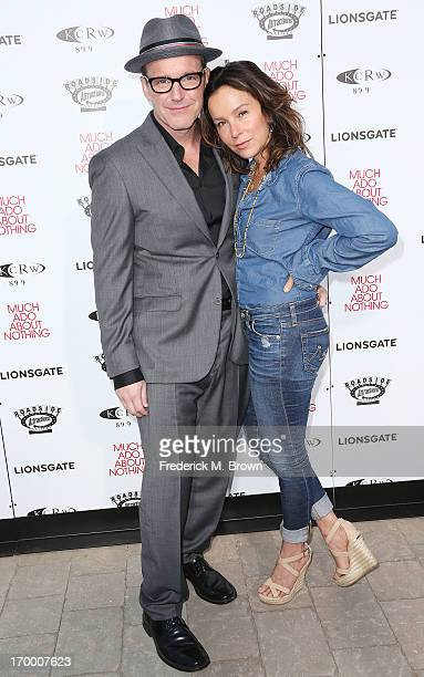 Actor Clark Gregg and actress Jennifer Grey attend the screening of Lionsgate and Roadside Attractions' 'Much Ado About Nothing' at Oscar's Outdoors...