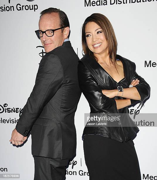 Actor Clark Gregg and actress MingNa Wen attend the Disney Media Networks International Upfronts at Walt Disney Studios on May 19 2013 in Burbank...