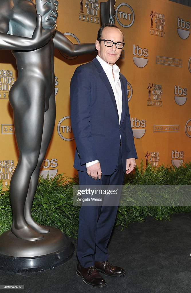 Actor <a gi-track='captionPersonalityLinkClicked' href=/galleries/search?phrase=Clark+Gregg&family=editorial&specificpeople=587275 ng-click='$event.stopPropagation()'>Clark Gregg</a> attends the 20th Annual Screen Actors Guild Awards Nominations Announcement at Pacific Design Center on December 11, 2013 in West Hollywood, California.