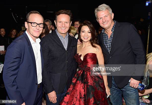 Actor Clark Gregg producer Mark Burnett actress MingNa Wen and People's Choice Awards president Fred O Nelson attend the People's Choice Awards 2016...