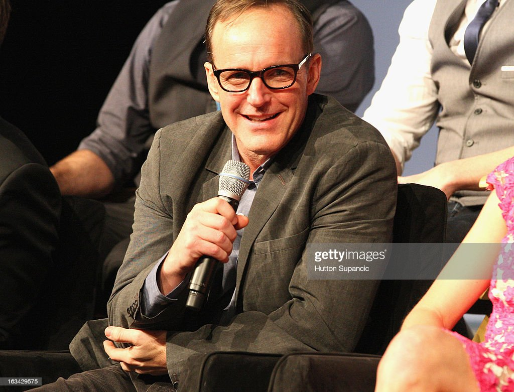 Actor <a gi-track='captionPersonalityLinkClicked' href=/galleries/search?phrase=Clark+Gregg&family=editorial&specificpeople=587275 ng-click='$event.stopPropagation()'>Clark Gregg</a> speaks onstage at the Much Ado About Much Ado Panel during the 2013 SXSW Music, Film + Interactive Festival at Austin Convention Center on March 9, 2013 in Austin, Texas.