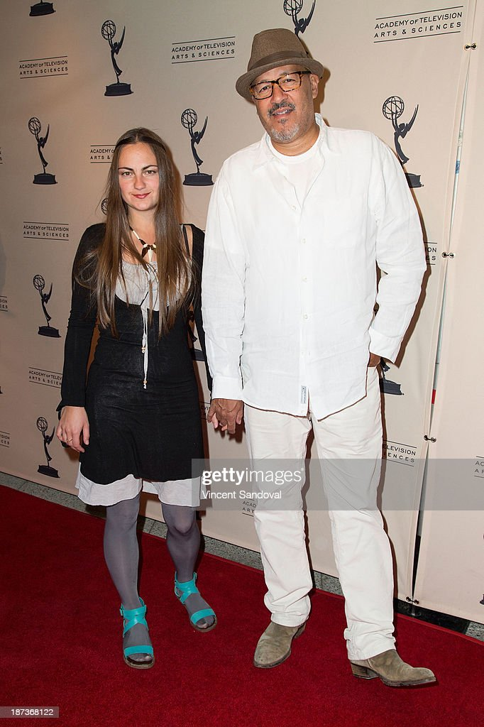 Actor <a gi-track='captionPersonalityLinkClicked' href=/galleries/search?phrase=Clark+Johnson&family=editorial&specificpeople=683665 ng-click='$event.stopPropagation()'>Clark Johnson</a> (R) and guest attend The Television Academy presents Amazon Studios at The Television Academy at Leonard H. Goldenson Theatre on November 7, 2013 in North Hollywood, California.
