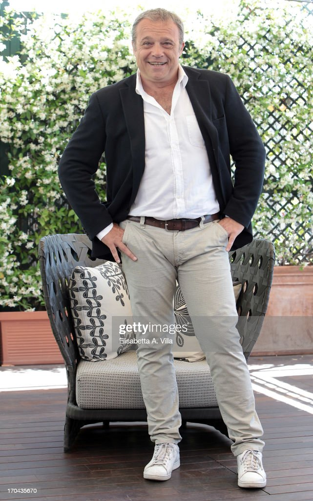 Actor Claudio Amendola attends 'Cha Cha Cha' photocall at Hotel Bernini Bristol on June 13, 2013 in Rome, Italy.