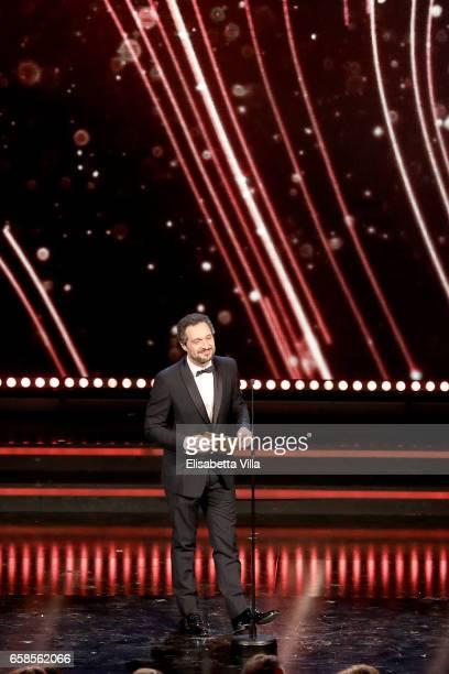 Actor Claudio Santamaria attends the 61 David Di Donatello ceremony on March 27 2017 in Rome Italy