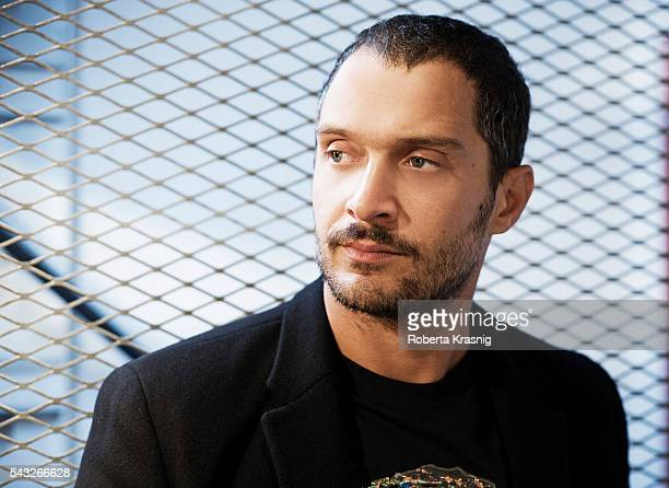 Actor Claudio Santamaria is photographed for Self Assignment on September 15 2011 in Rome Italy