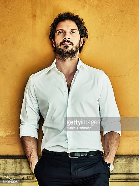 Actor Claudio Santamaria is photographed for Vanity Fair Italy on April 7 2016 in Rome Italy