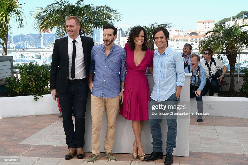Actor Claudio Tolcachir director Pablo Fendrik actress Alice Braga and actor Gael Garcia Bernal attend the 'El Ardor' photocall at the 67th Annual...