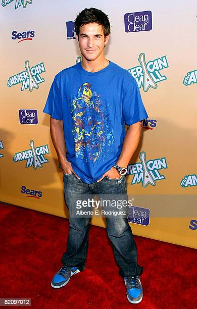 Actor Clay Adler arrives at the premiere of MTV's 'The American Mall' held at the Cinerama Dome on July 28 2008 in Hollywood California
