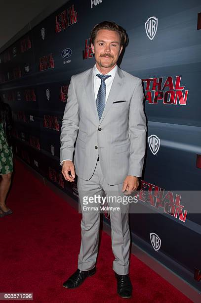 Actor Clayne Crawford attends the premiere of Fox Network's 'Lethal Weapon' at NeueHouse Hollywood on September 12 2016 in Los Angeles California
